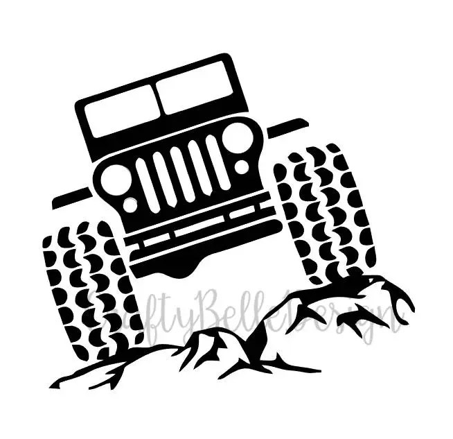 Jeep On Rocks Decal Jeep And Rocks Decal By