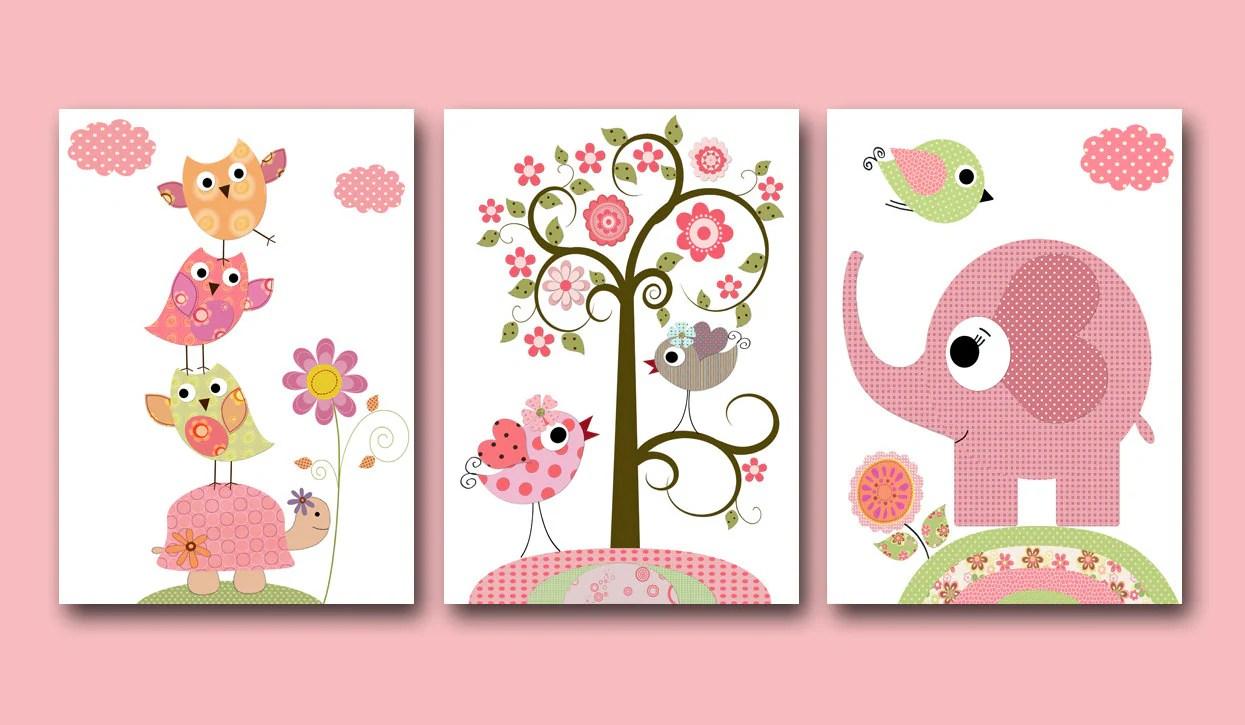 Baby Girl Nursery Print Baby Art Kids Wall Art Baby Girl Room