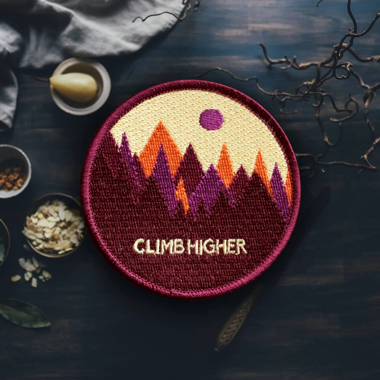 Colorful Mountain Patch Sew Embroidered Patches
