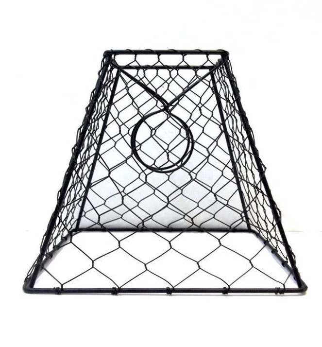 Chicken Wire Lamp Shade 8X7X4 Black Metal Hex Wire Lamp Shade