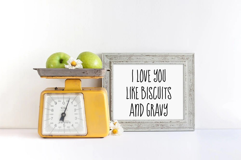 Download I Love You Like Biscuits and Gravy SVG EPS PNG jpg File