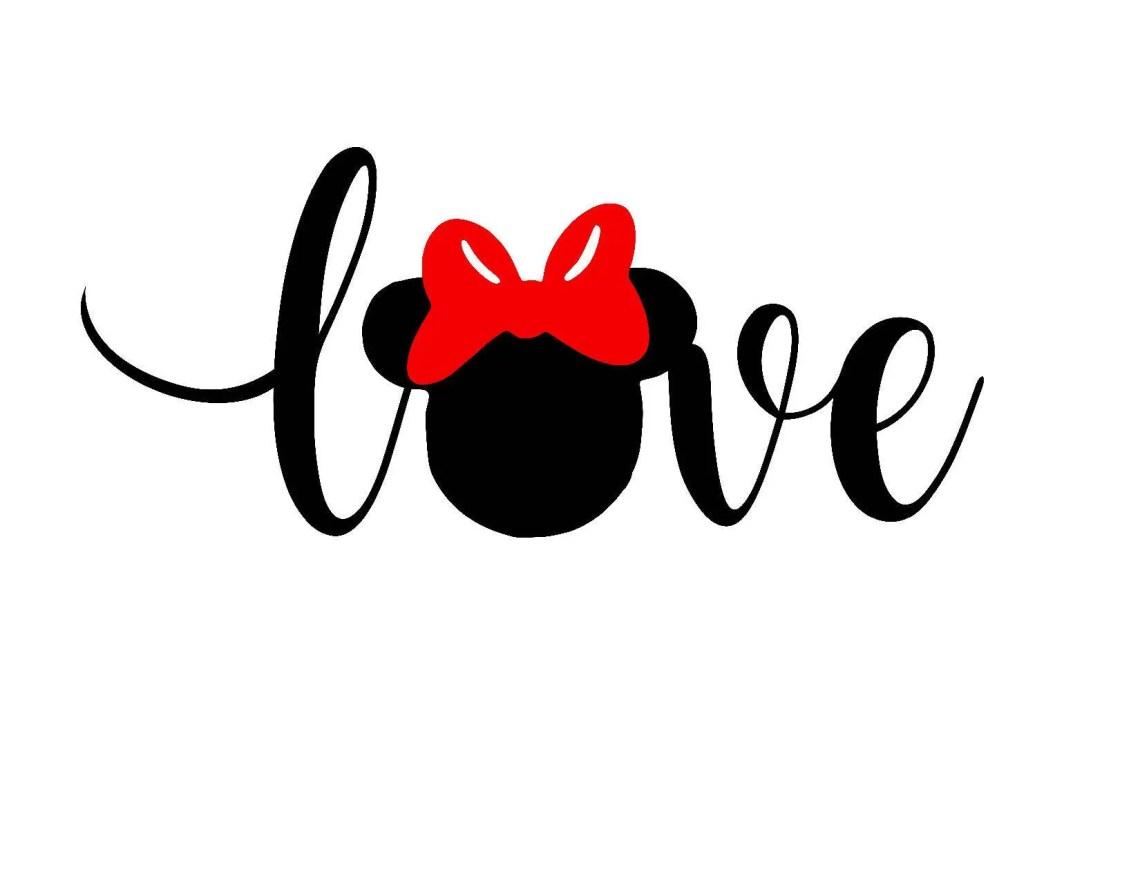 Download Disney SVG Minnie SVG Valentines Love jpg and Silhouette