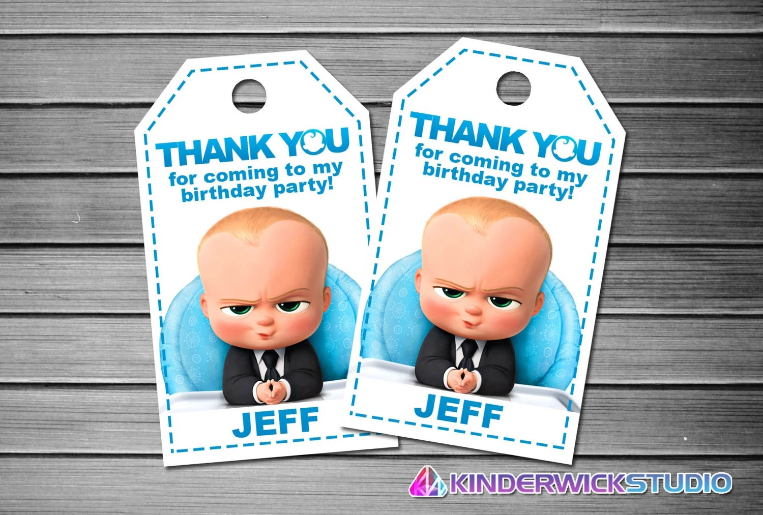 Boss Baby Thank You Tags Boss Baby Favor Tags Boss Baby Gift