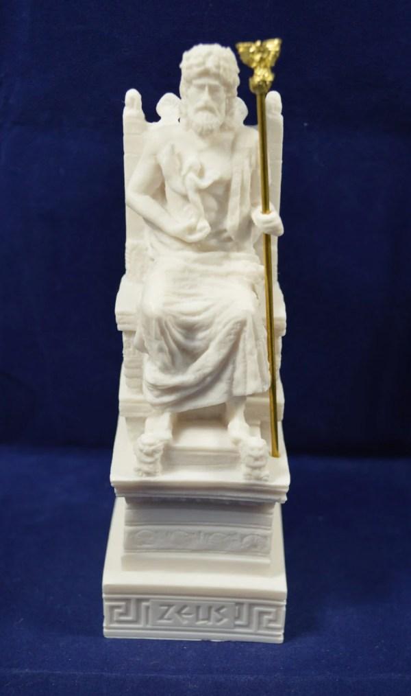 Zeus Throne Sculpture Statue Ancient Greek God King Of