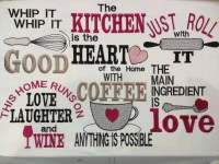 Kitchen cute quotes machine embroidery designs 4x4 5x7