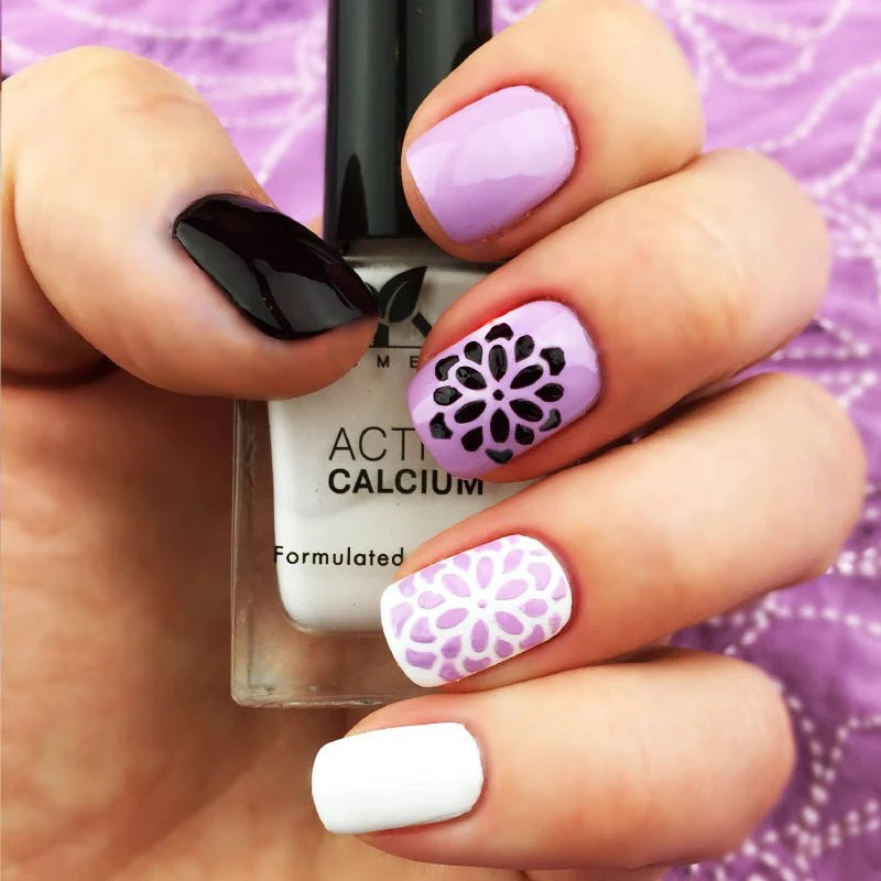 flowers nail art stencils incredible