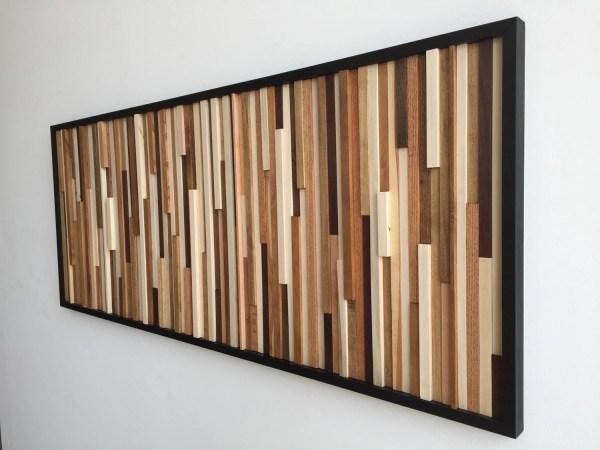 Wood Wall Art Reclaimed 3d