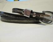 Black leather belt , thin...
