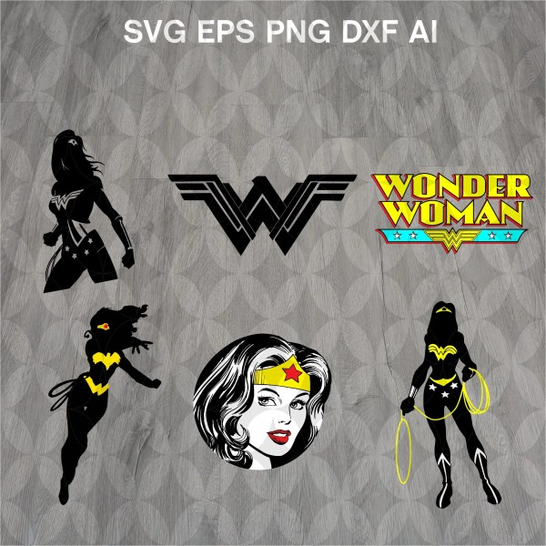 Woman Svg Superhero Silhouette Cut Files
