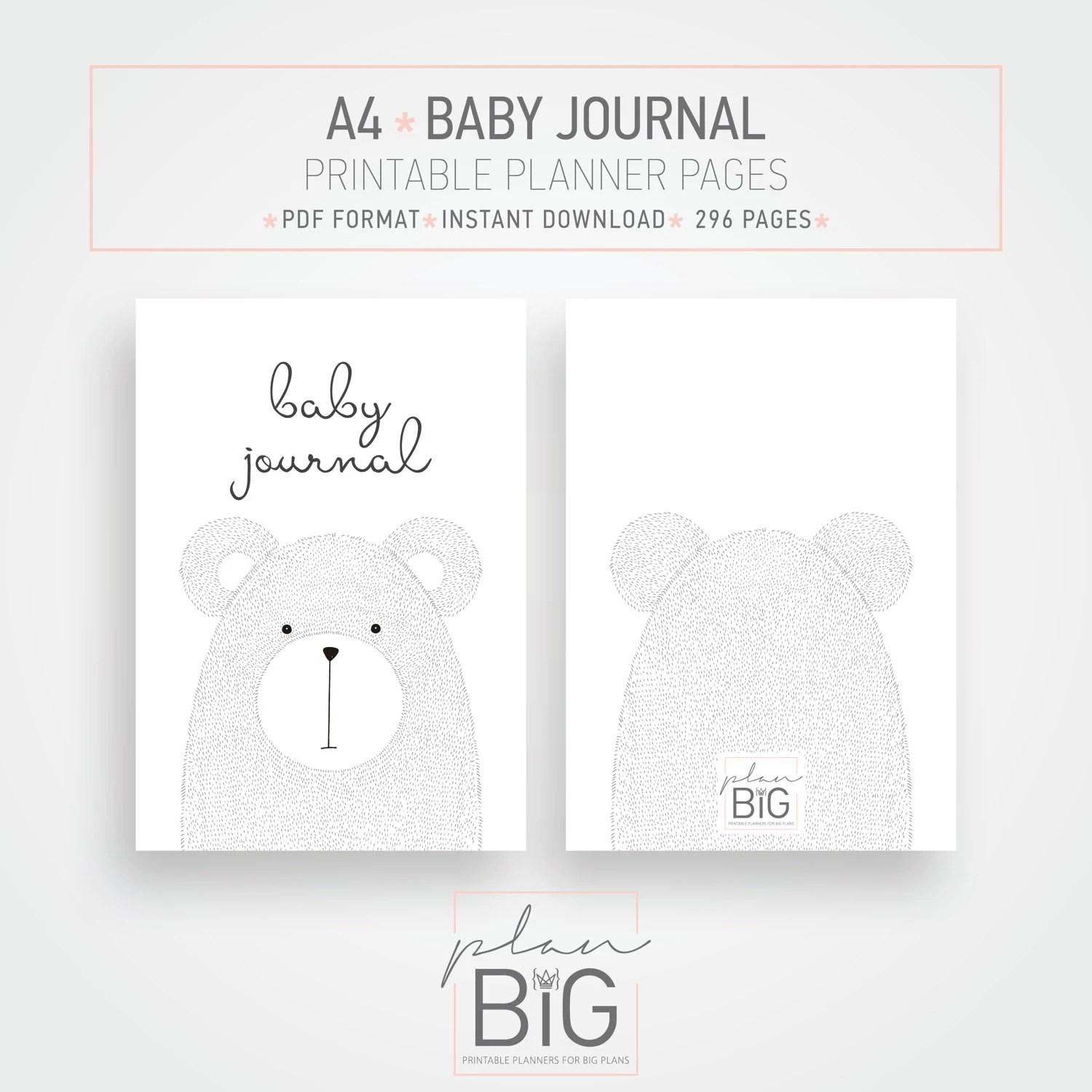 Printable Baby Journal Pregnancy Journal A4 Planner Baby