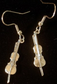 Violin Earrings Fiddle Music Orchestra Band Sting Instrument