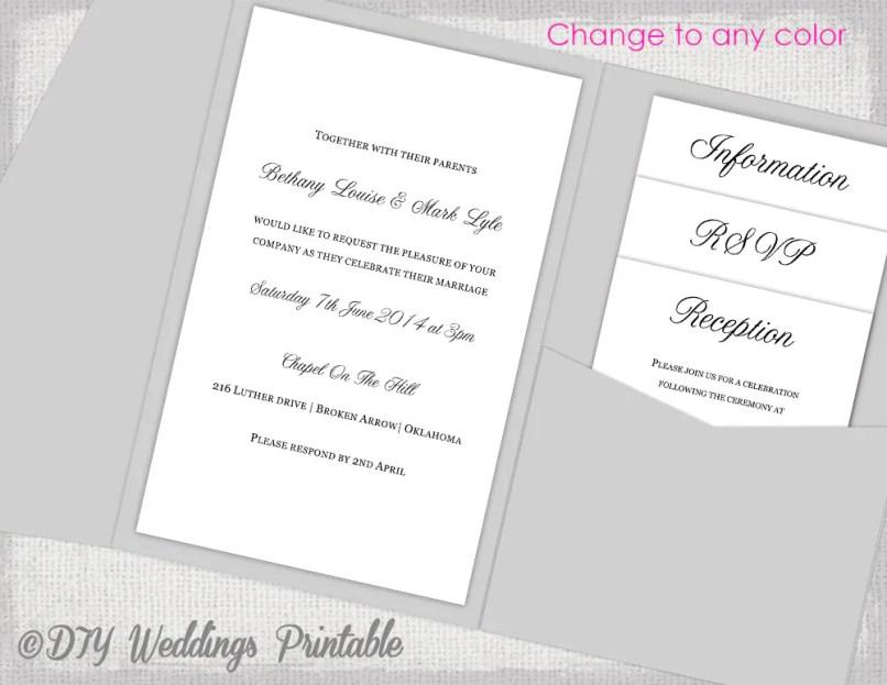Diy Pocket Wedding Invitations Uk   Inviview.co