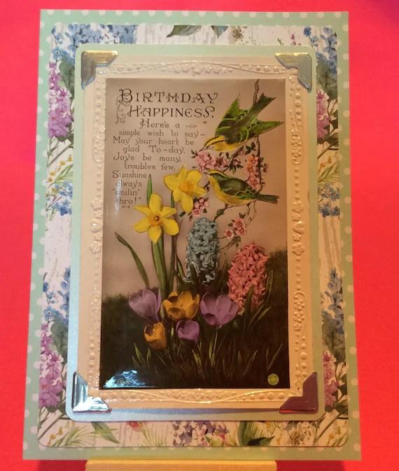 Vintage handmade birthday card