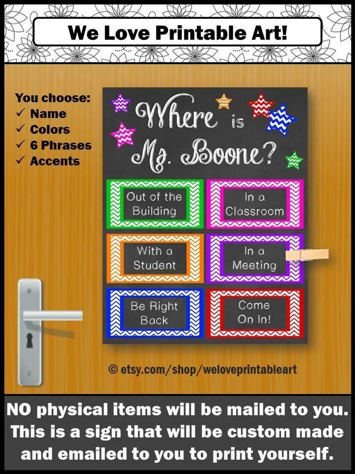 Custom Door Decoration School Counselor Gift Guidance