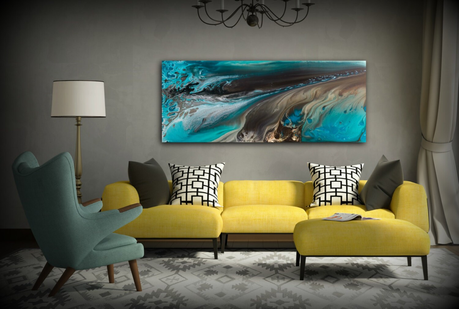 Giclee Prints Art Abstract Painting Coastal Home Decor