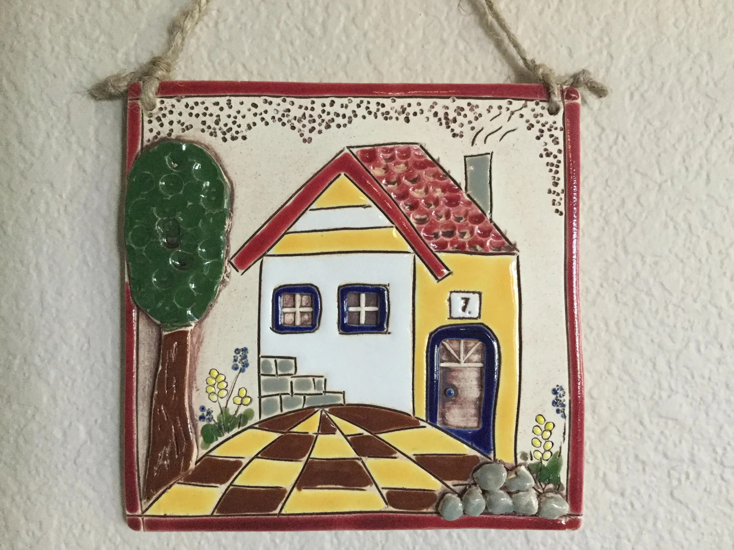 Colorful High Fire Ceramic Gourd Fairy House - Year of Clean