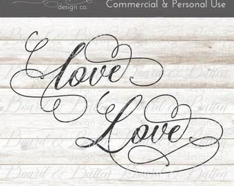 Download Script love svg | Etsy