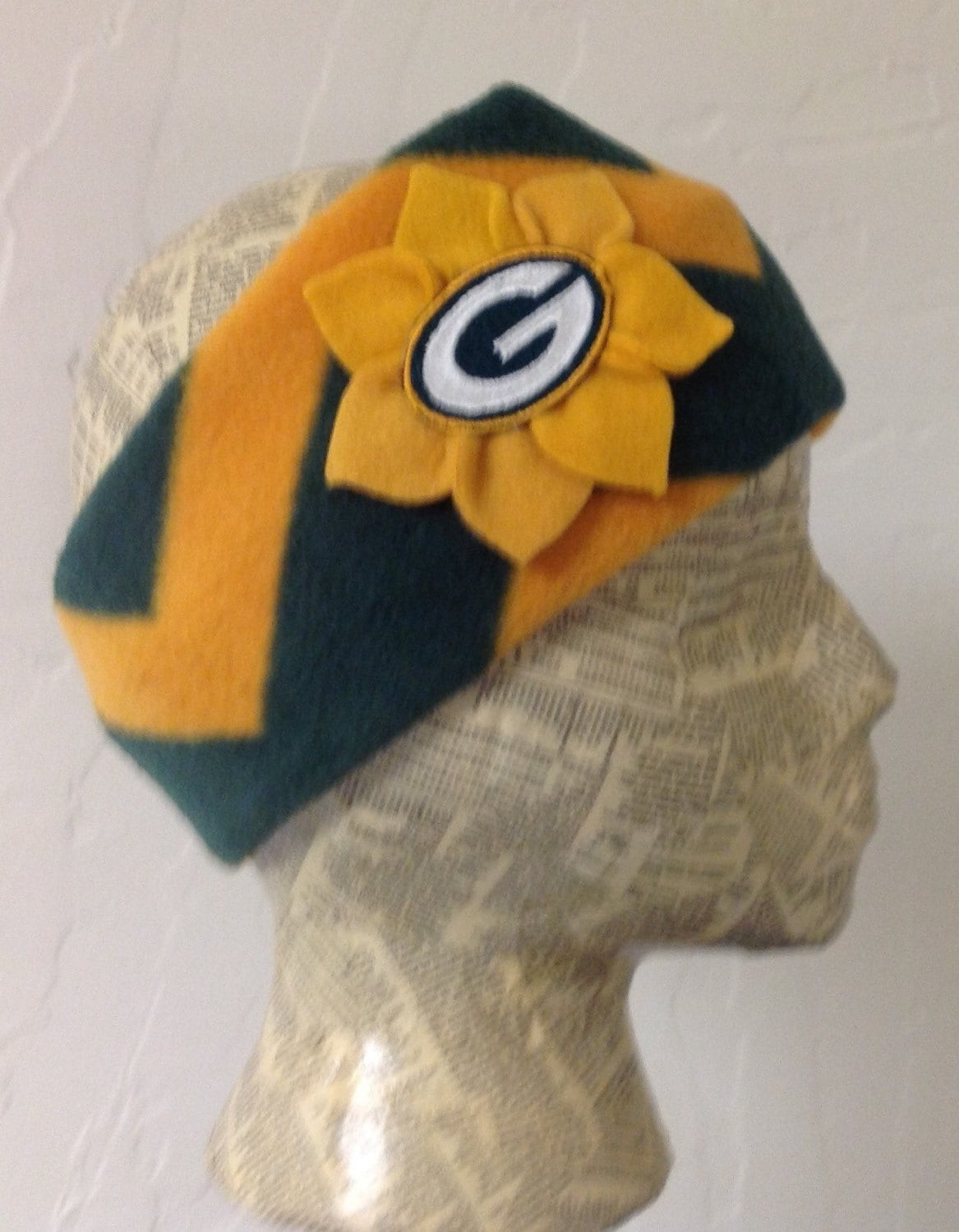 Green Bay Packers Fleece Cheese Head Scarf Free - Year of