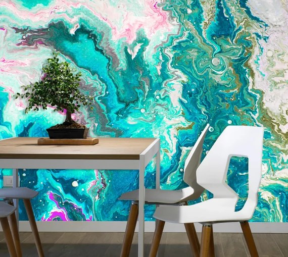 Abstract Water Mural for the home by uniQstiQ