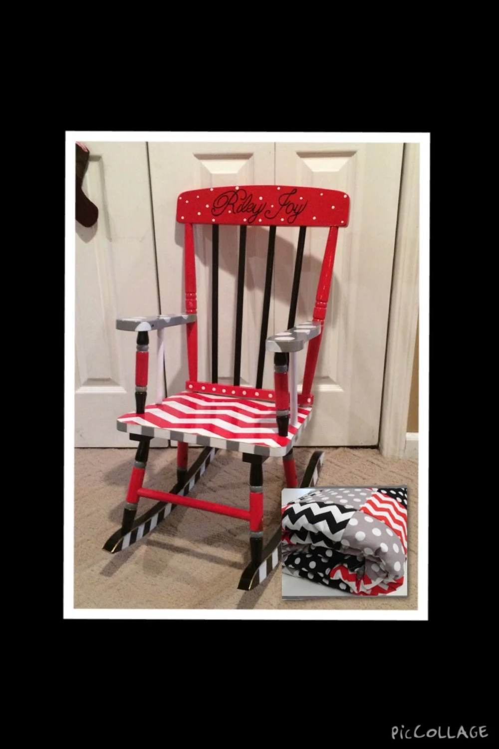 Whimsical Painted Furniture Painted Rocking Chair  custom