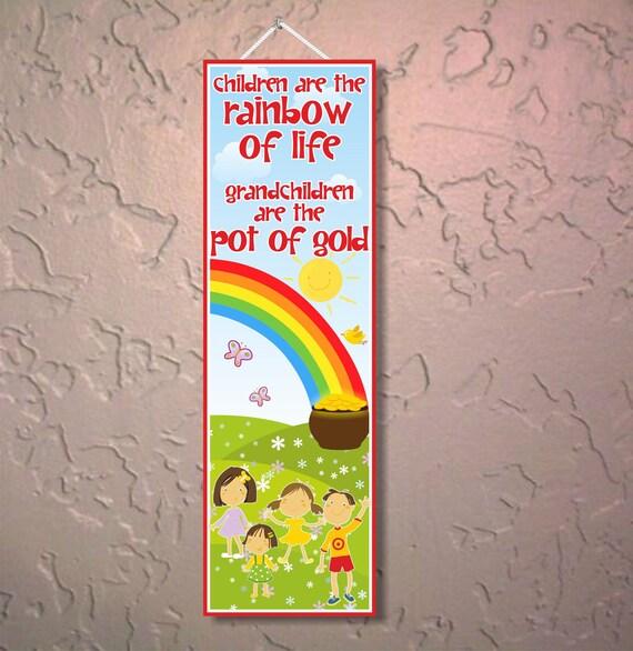 Grandchildren And Quotes Rainbow