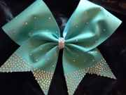 hair bow cheer rhinestone