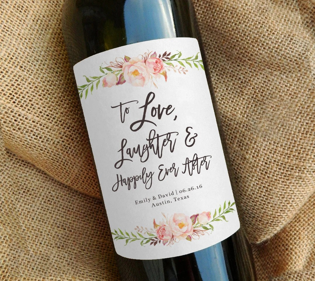 Custom Wine Bottle Label Wedding Favor