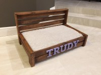 Medium Rustic Wood Dog Bed Custom Dog Bed Wooden Dog Bed
