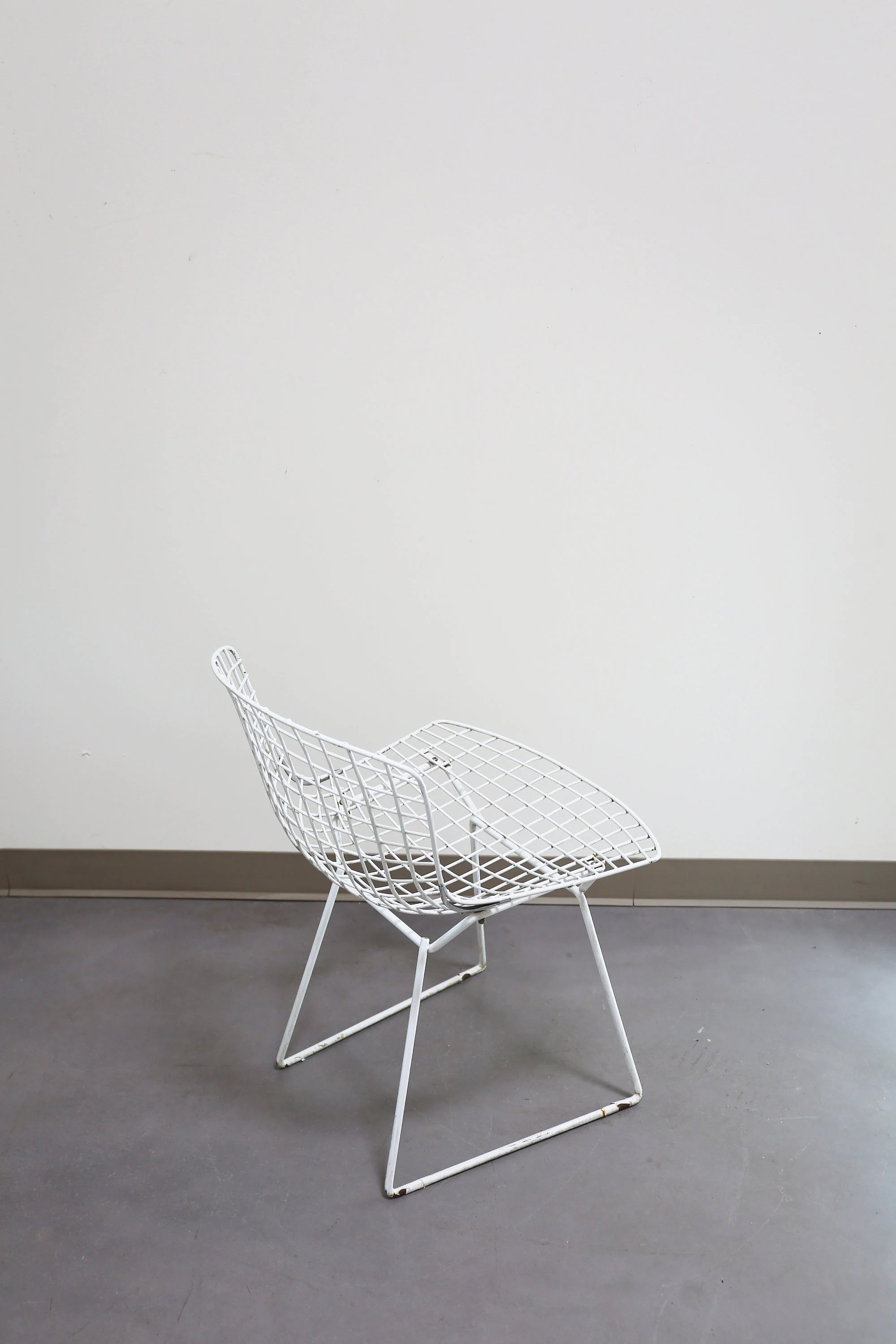 bertoia wire chair original ikea preben covers knoll white enamel