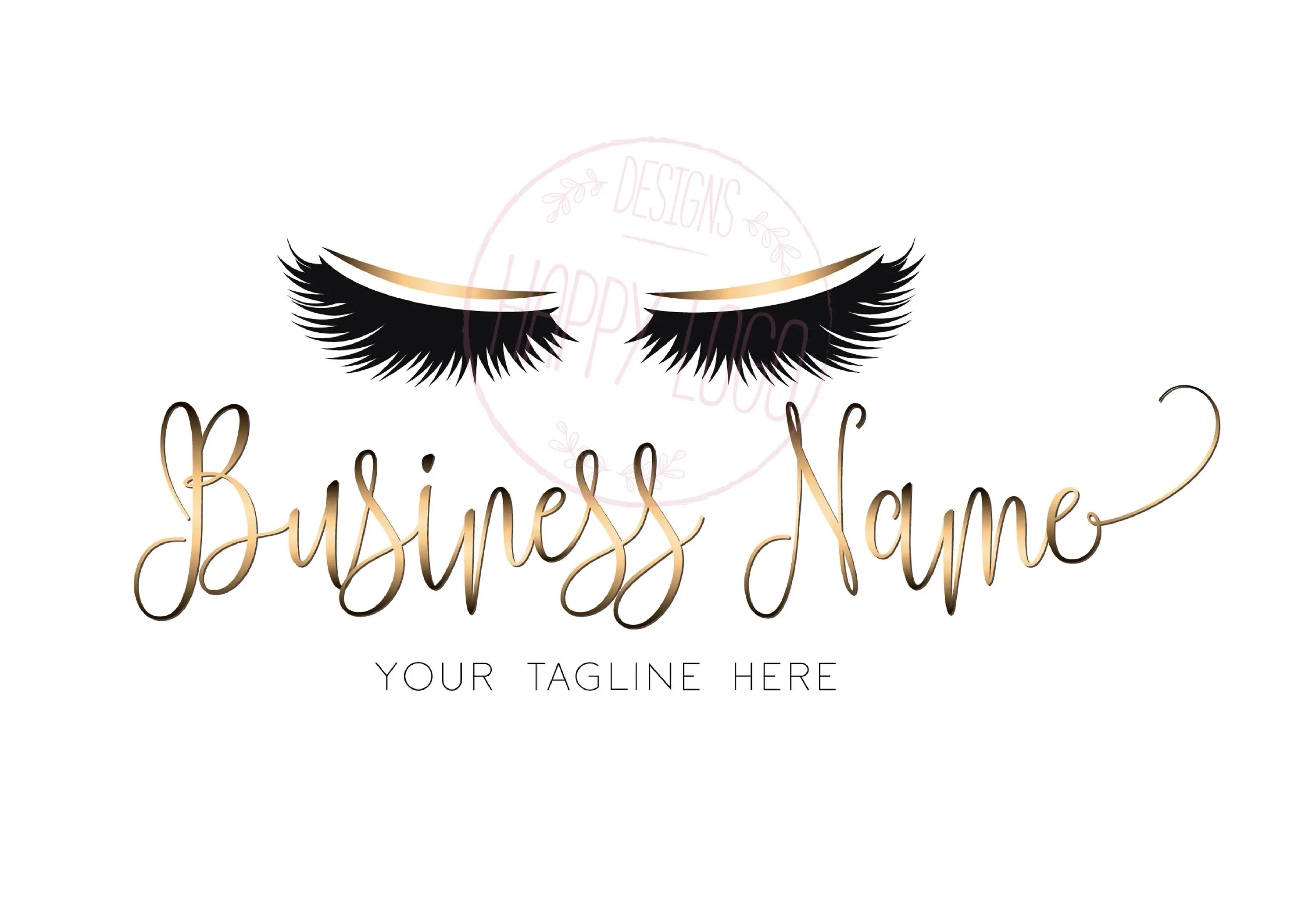 digital custom logo design lashes