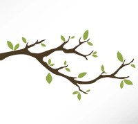 Tree Branch Vinyl Wall Decal Sticker Leaves Modern