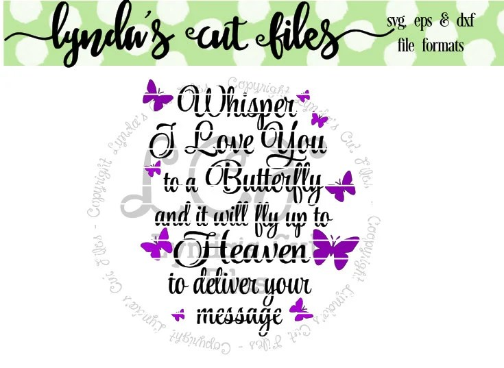 Download Whisper I love you to a Butterfly SVG/DXF/EPS file