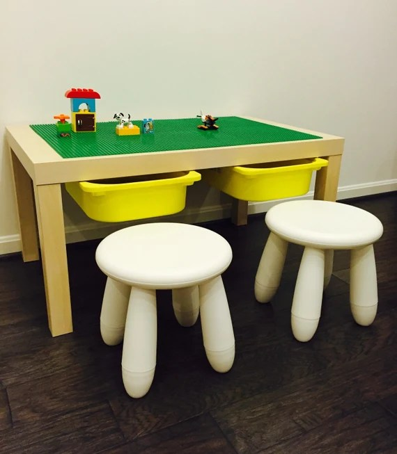 Large Lego Table With Storage & Stools