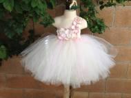 Flower Girl Dress Tutu Blush Pink