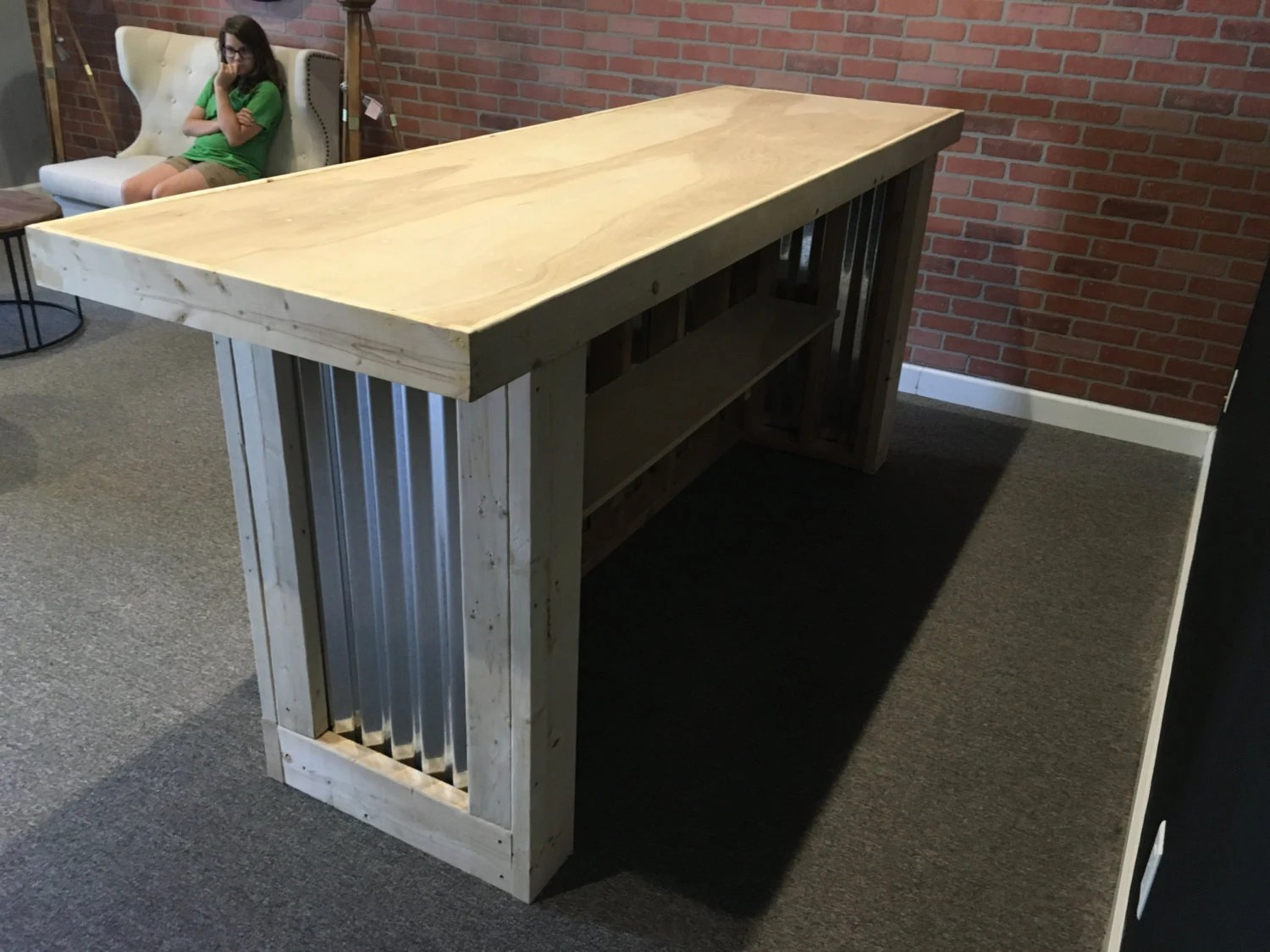 The Counter Sr  8 foot corrugated metal bar sales