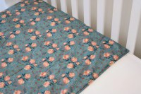 Organic cotton and bamboo baby blanket antique rose pink and