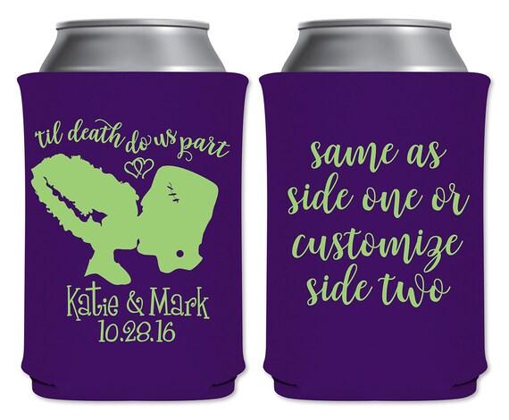 Halloween Wedding Favors Custom Can Coolers Beverage