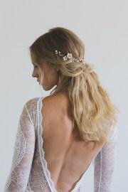 poetic floral bridal hair vine