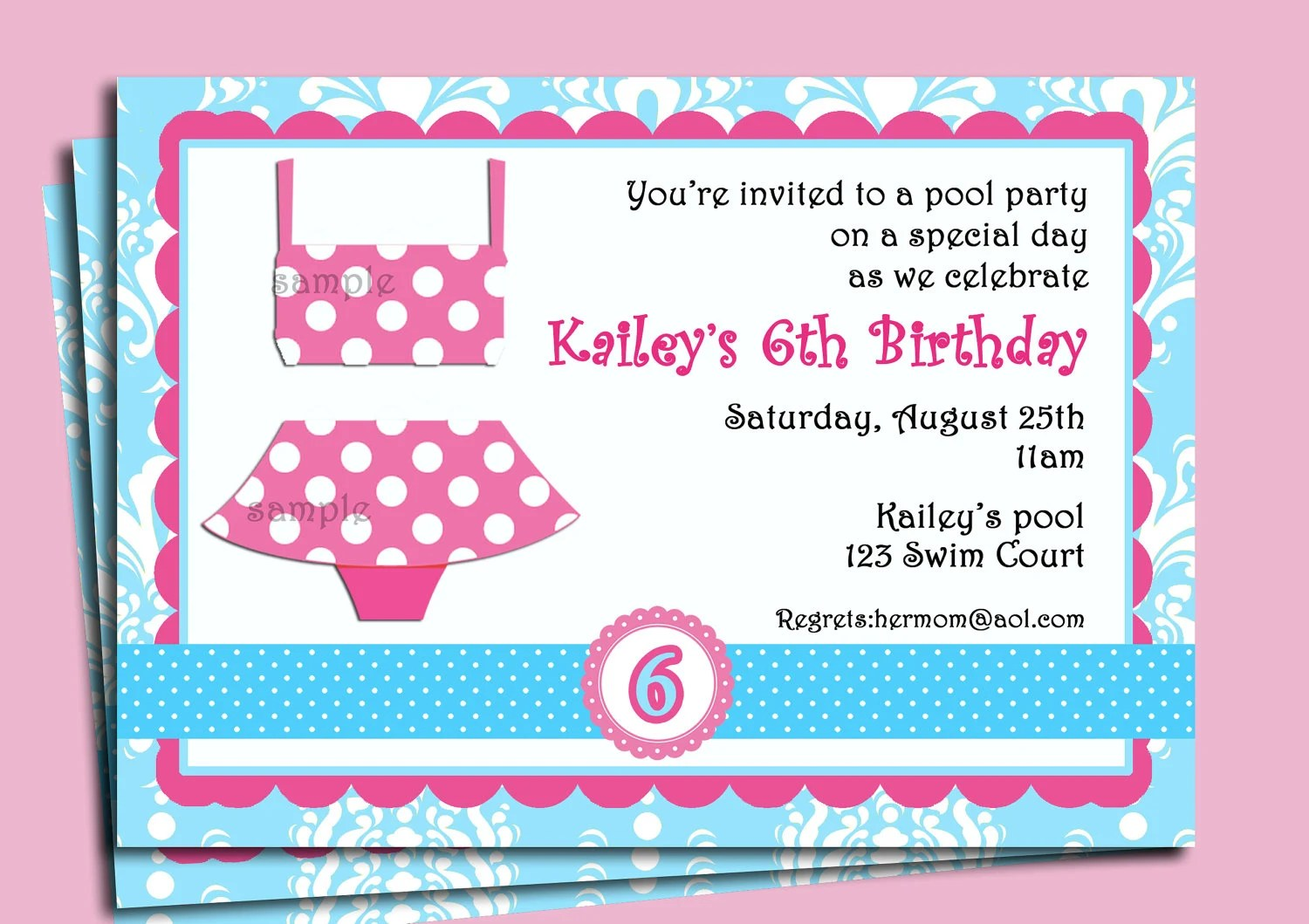Pool Party Invitation ] | Pool Party Invitations, Pool Party ...
