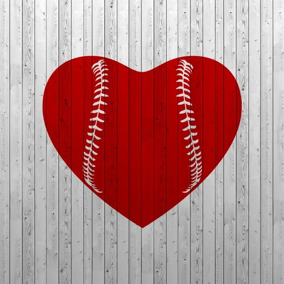 Download Baseball heart SVG Baseball love SVG Baseball SVG files
