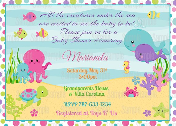 Order Custom Baby Shower Invitations