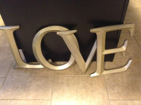 Letters Large Letters Wall Decor Shabby Chic Wall Decor