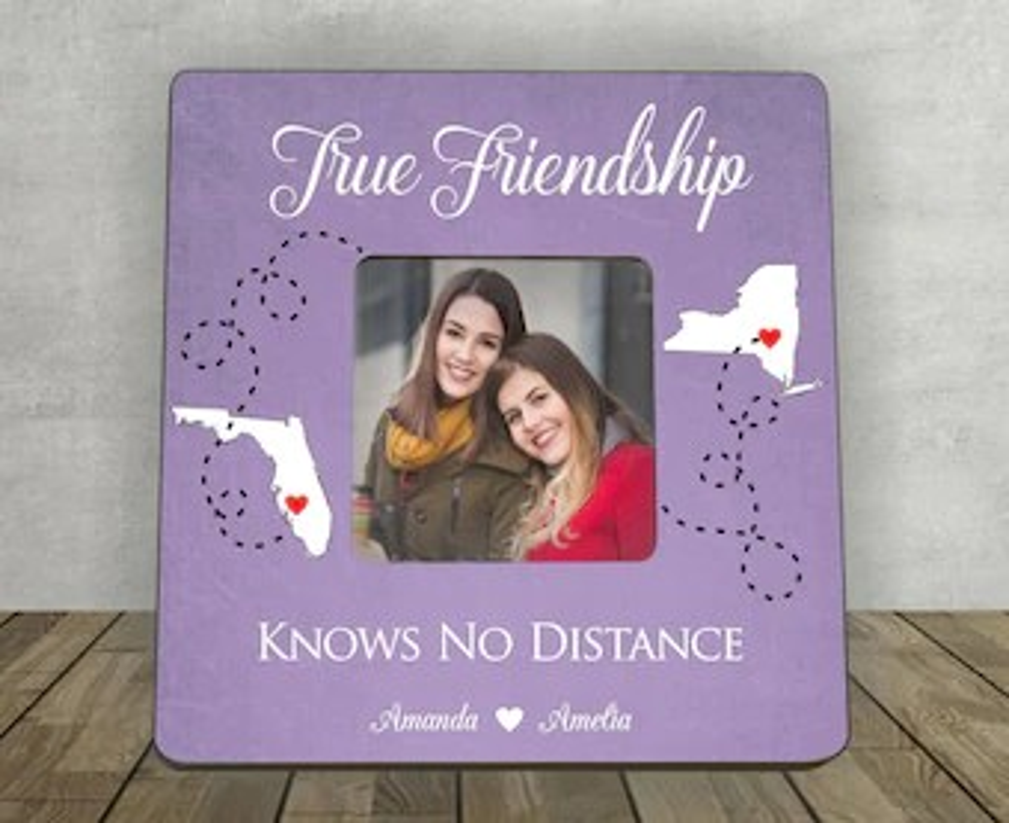 Best Friend Long Distance Art True Friendship Quote State
