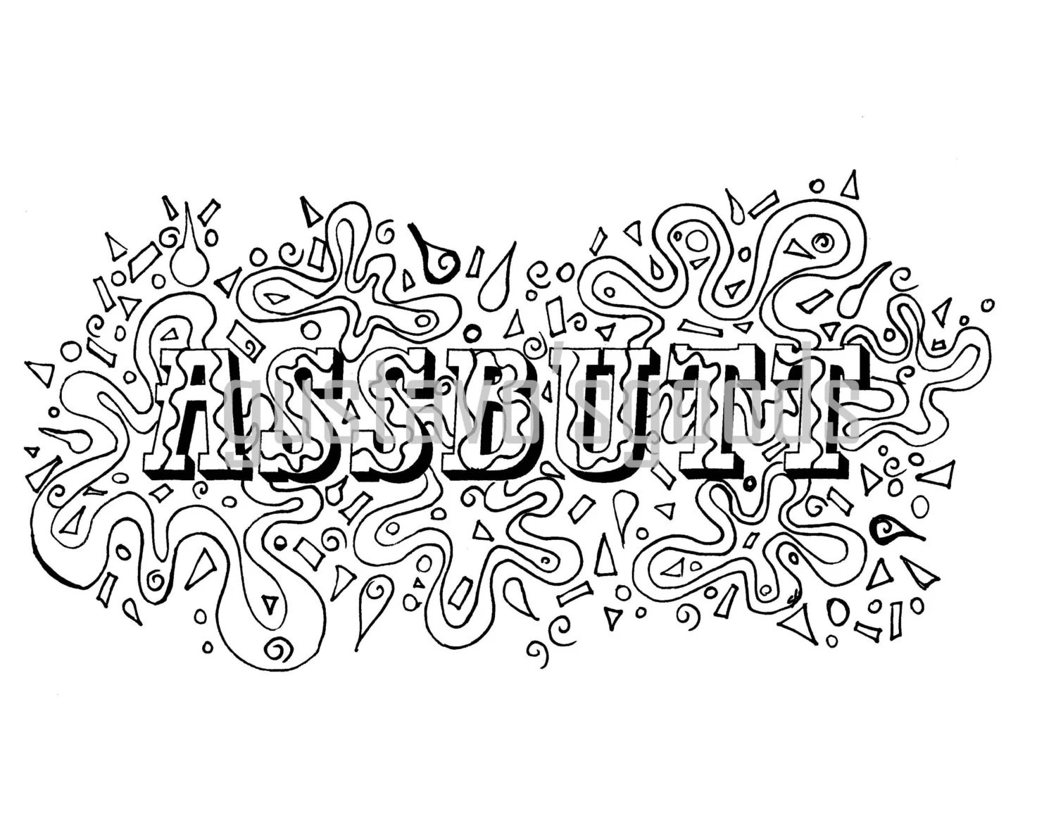 Curss Words With Coloring Pages For Adults. Curss. Best