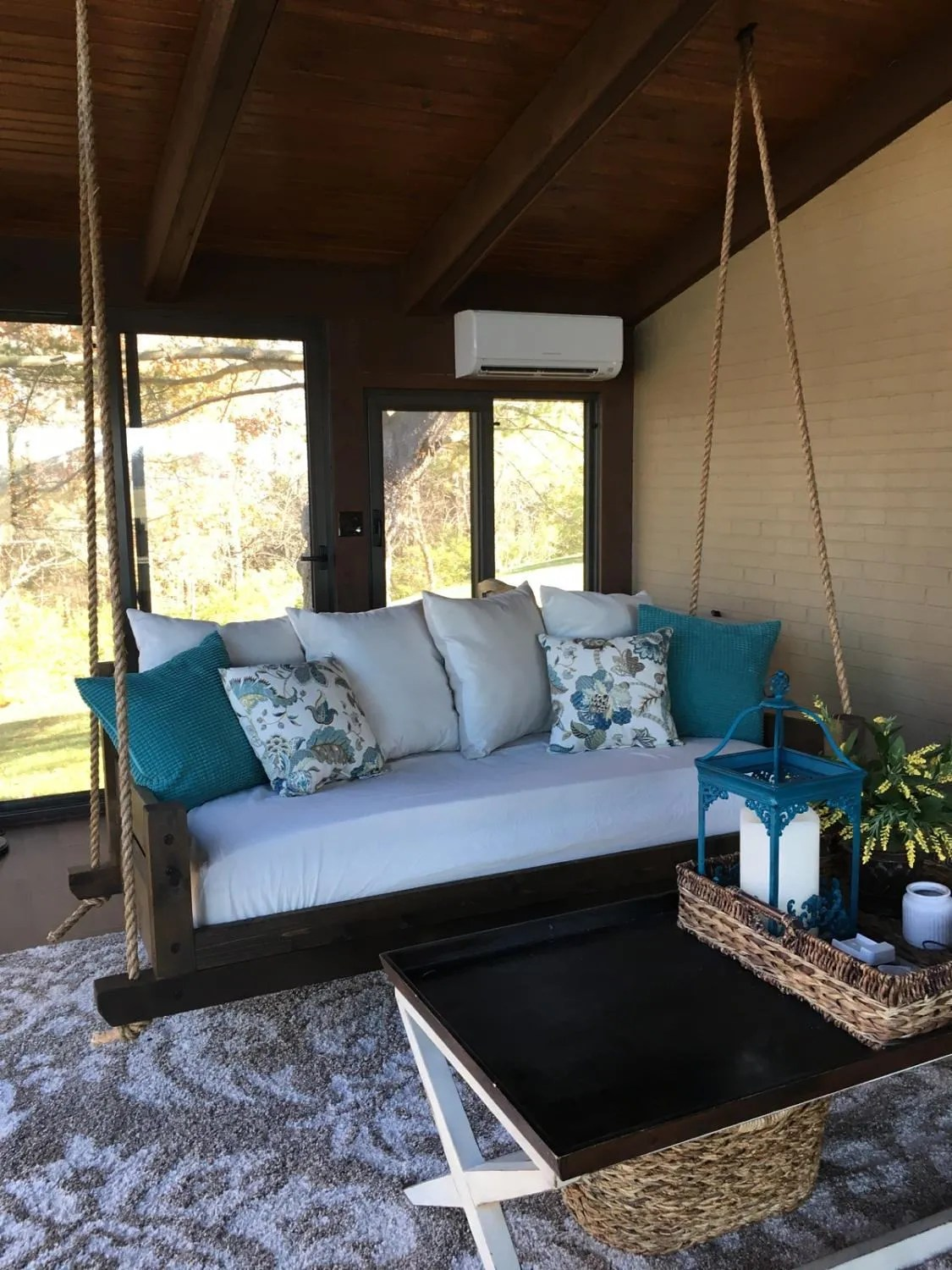 Handcrafted Cedar Swing Bed Daybed