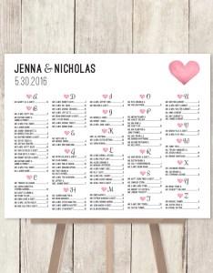 Alphabetical seating chart sign diy wedding also elitadearest rh
