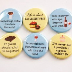 Kitchen Magnets Flat Front Cabinets Ladybug Lover Button Food Wine Chocolate Coffee Dessert Yellow Blue Stocking Stuffer 3381