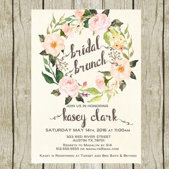 Bridal Shower Luncheon Invitations