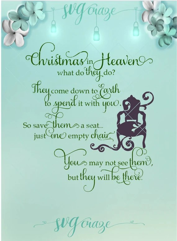 Download Christmas in Heaven Christmas SVG Heaven Svg Loss of Loved