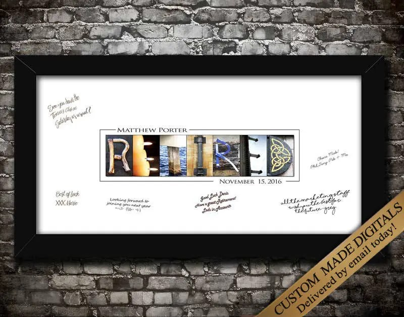 Personalized Retirement Gifts Retirement Printables Gift For